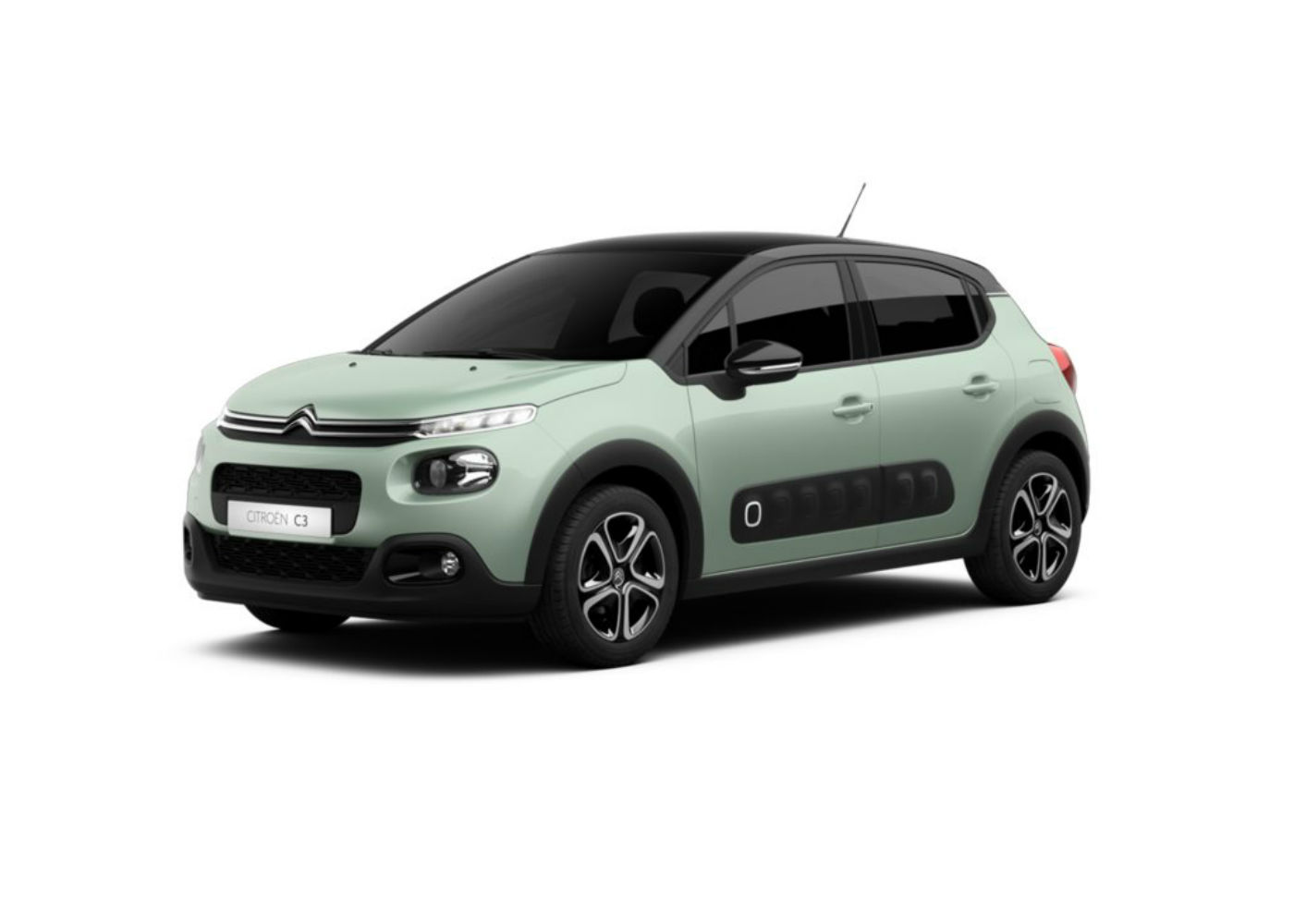 citroen c3 puretech 82 shine almond green km0 a soli 13400 su miacar lewyf. Black Bedroom Furniture Sets. Home Design Ideas