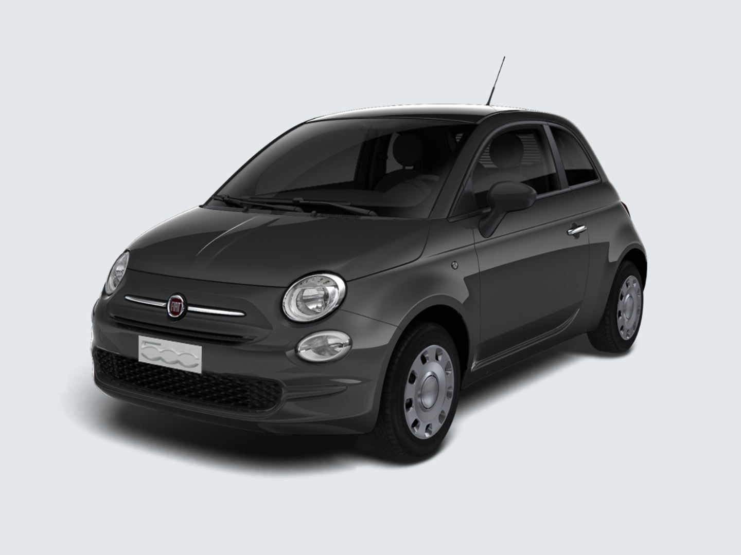 fiat 500 grigio carrara km0 a soli 10480 su miacar 3vily. Black Bedroom Furniture Sets. Home Design Ideas
